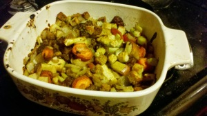 There's not much, but this really is stuffing