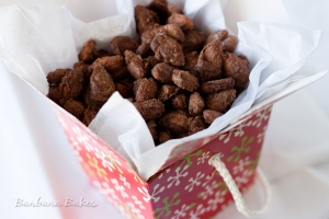 These are BEAUTIFUL.  Mine, not so much.  From http://www.barbarabakes.com/2012/11/candied-cinnamon-roasted-almonds/