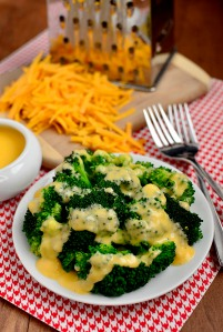 I don't want to support Cheese Whiz, so here is a pretty picture from this blog with a recipe for real cheese sauce.  Click on picture to go to Iowa Girl Eats.