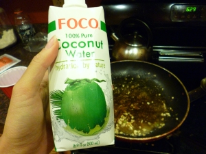 I'm coco for coconut water!  I go nuts for coconut water!  There's no con in coconut water!  I should go into advertising.