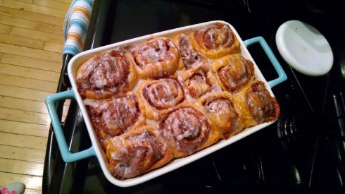 Cinn-fully delicious.  This is apparently a standard cinnamon roll pun.
